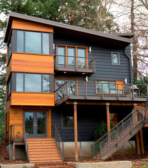 Orangewallstudios 11921 se 19th ave portland modern for Contemporary homes portland